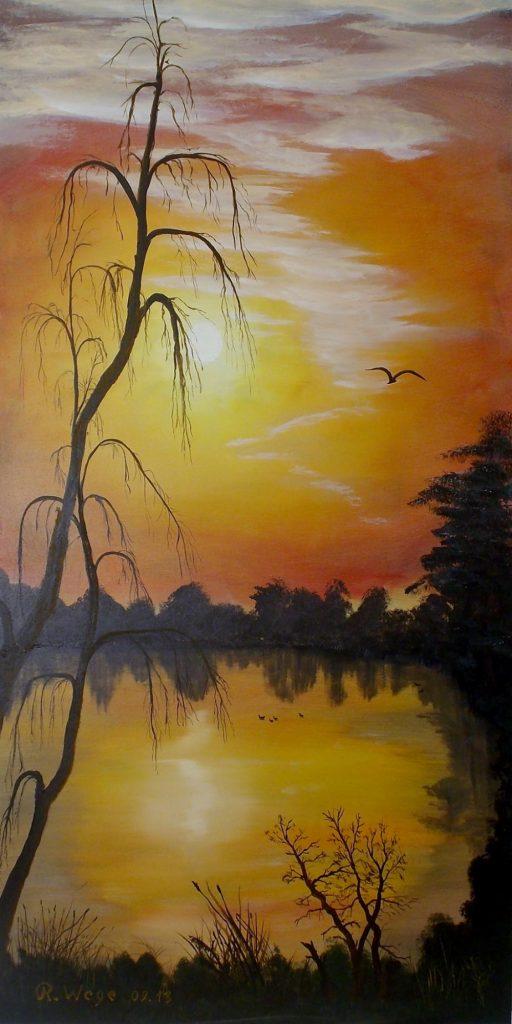 Sonnenuntergang übern Teich